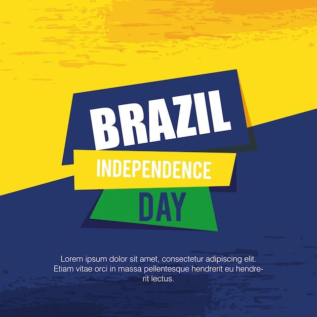 Дизайн иллюстрации вектора карточки торжества независимости бразилии Premium векторы