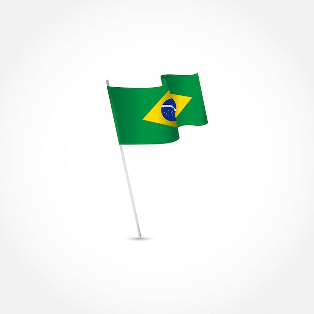 Brazil independence day template. Premium Vector