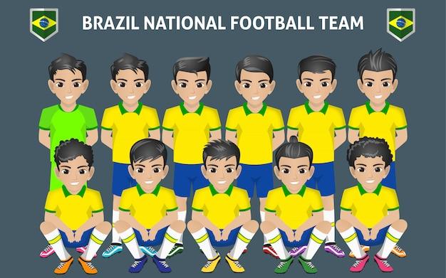 Brazil national football team Premium Vector