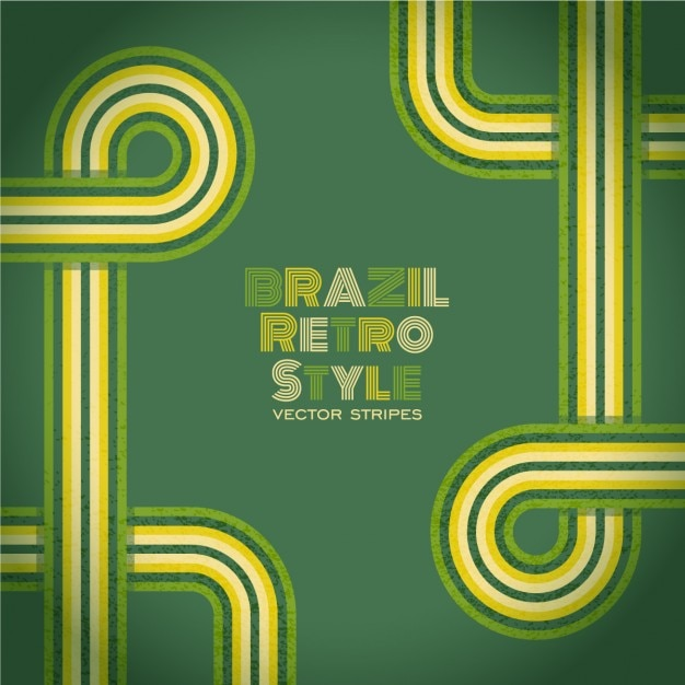 Brazil retro style background