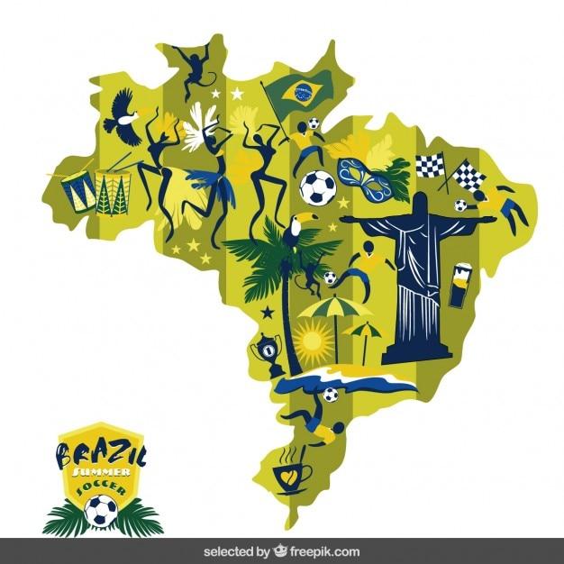 Brazil soccer map