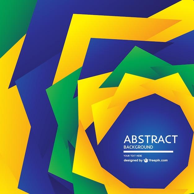 ブラジルの抽象的なデザイン無料の背景 無料ベクター