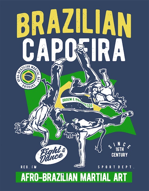 Brazilian capoeira Premium Vector