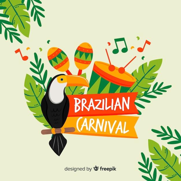ブラジルのカーニバルの背景 Premiumベクター