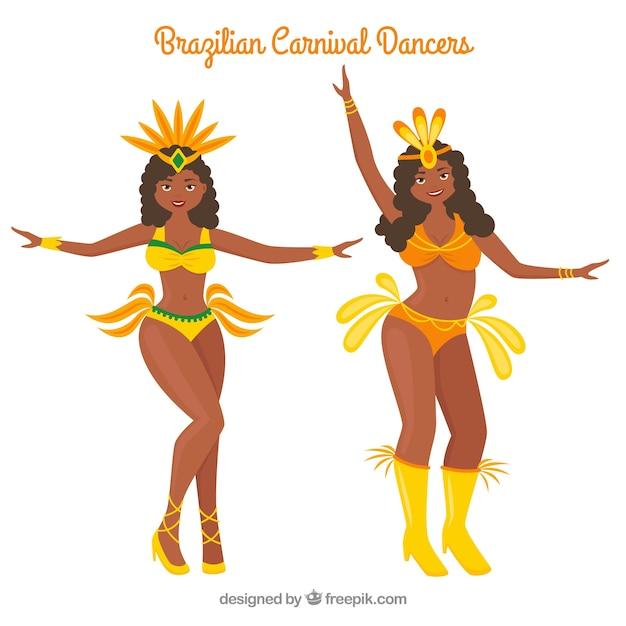 Brazilian carnival dancer collection in yellow\ bikini