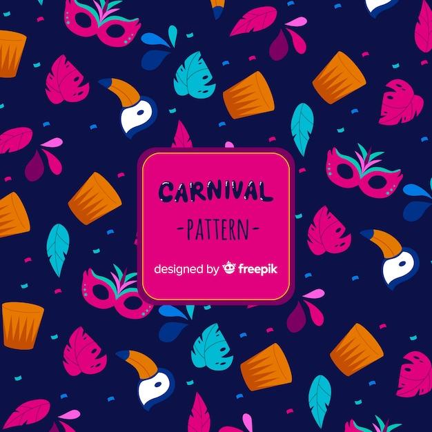 Brazilian carnival elements background Free Vector