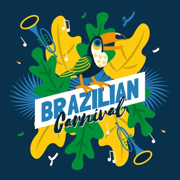 Brazilian carnival in hand drawn Free Vector