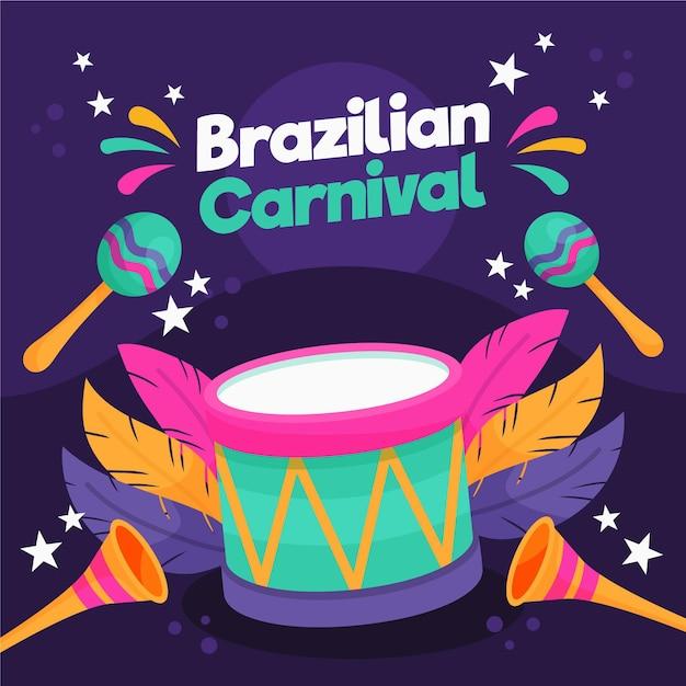 Бразильский карнавал рисованной Premium векторы