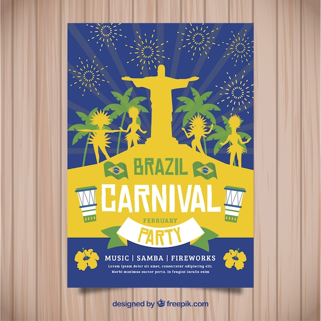 Brazilian carnival poster design | Free Vector