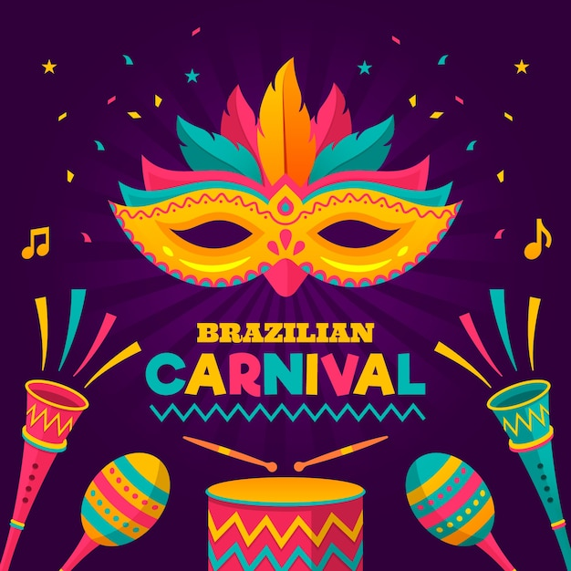 Brazilian Carnival Theme For Party Vector Free Download