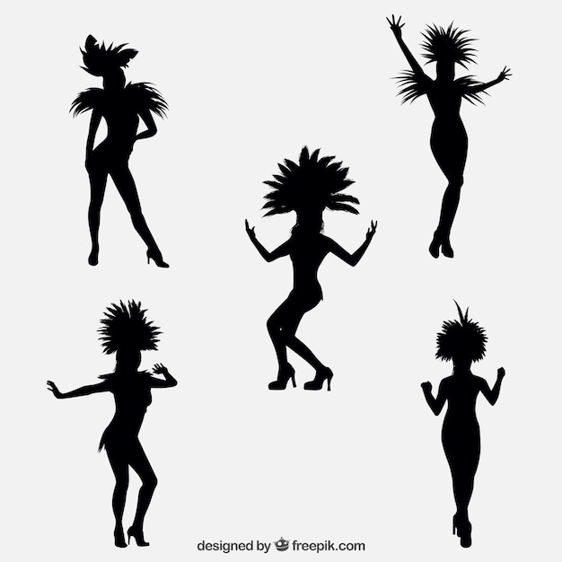 Brazilian dancers silhouettes