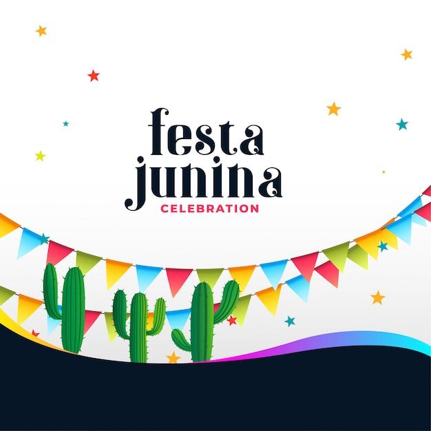 Brazilian festa junina celebration background Free Vector