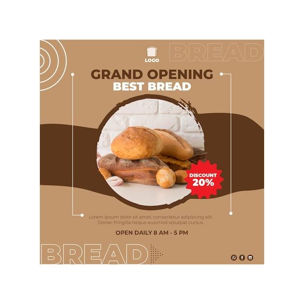 Concetto quadrato dell'aletta di filatoio del pane Vettore gratuito