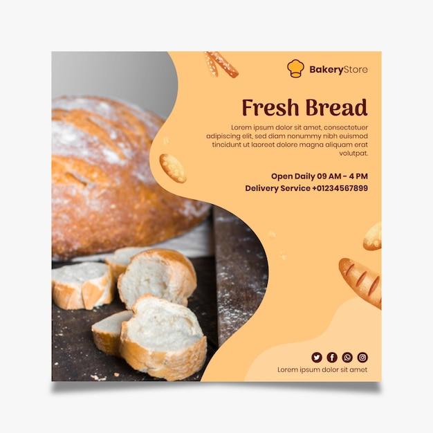 Modello di volantino di pane Vettore gratuito
