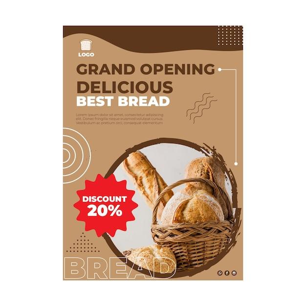 Concetto verticale dell'aletta di filatoio del pane Vettore gratuito