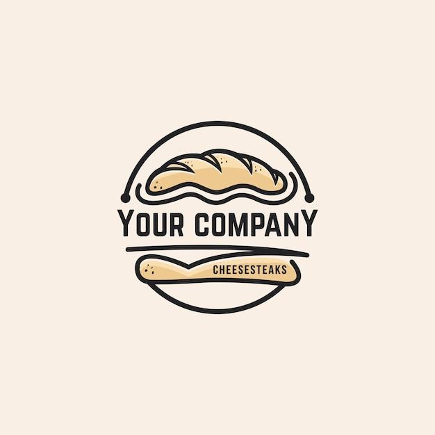 Bread logo template Premium Vector
