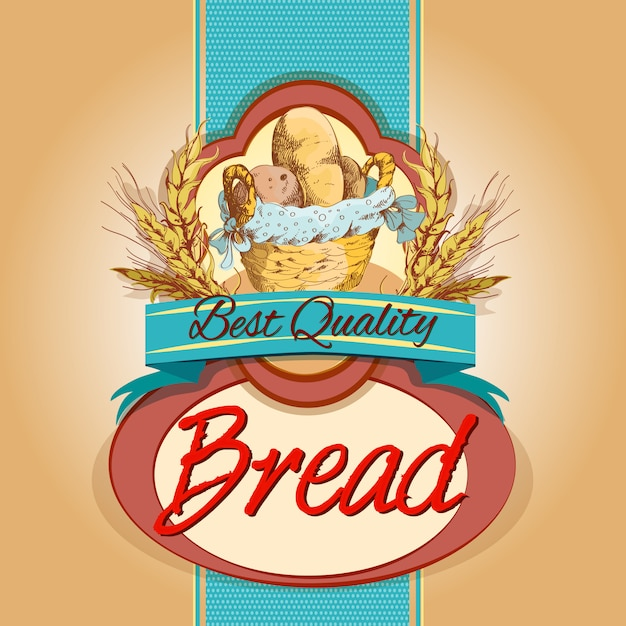 Bread pack label Free Vector