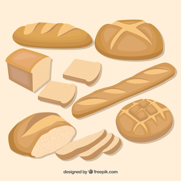 Bread set Premium Vector
