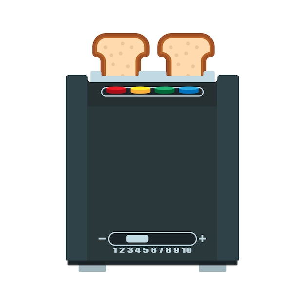 Bread toaster illustration Premium Vector