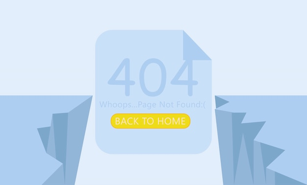 Breakage page 404 not found. Free Vector
