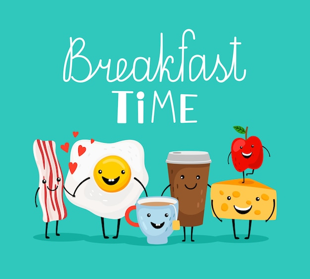 Время завтрака Premium векторы