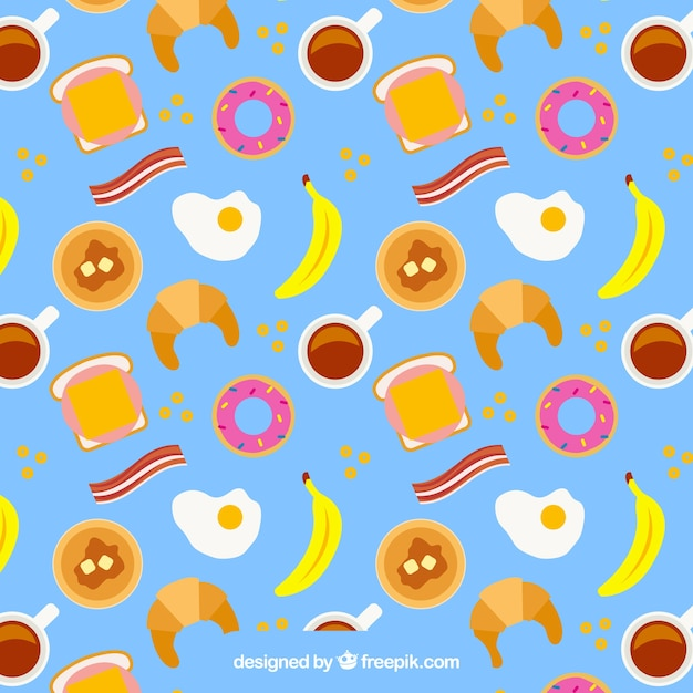 Breakfast pattern in flat desing. Bacon And Eggs Vectors  Photos and PSD files   Free Download