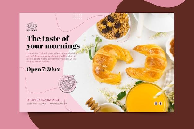 Шаблон баннера ресторана для завтрака Бесплатные векторы