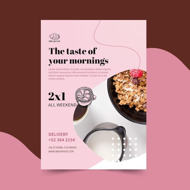Шаблон флаера ресторана для завтрака Бесплатные векторы