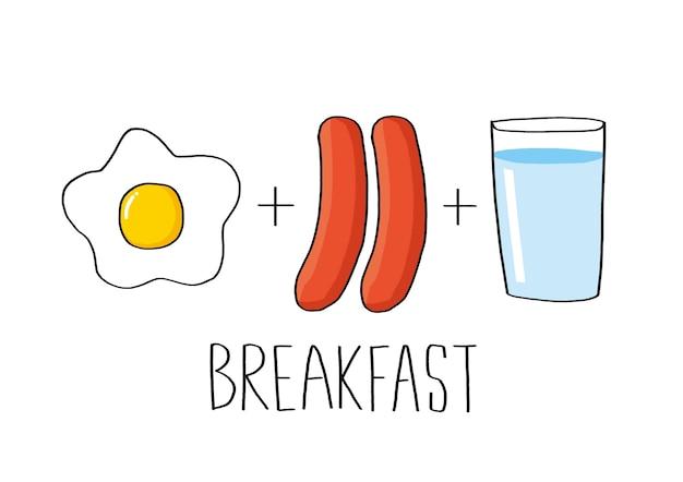 Breakfast set vector illustration Premium Vector