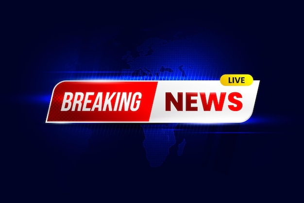 Breaking news background design Free Vector