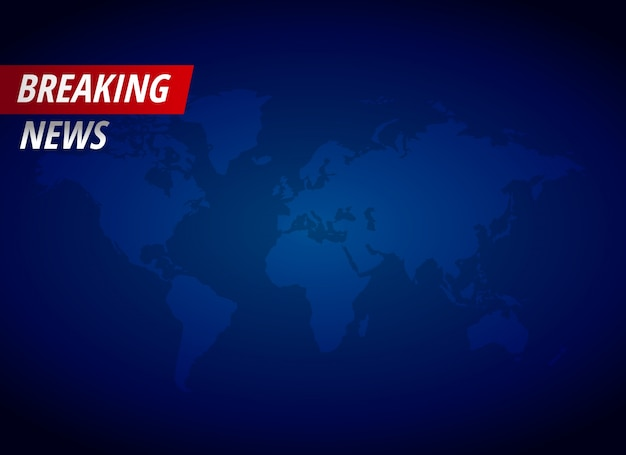 Breaking news background with text space Vector | Premium