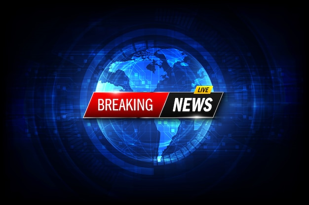 Breaking news background. Premium Vector