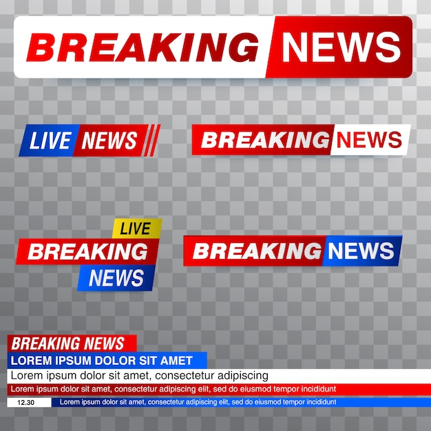 Breaking news background Vector | Premium Download