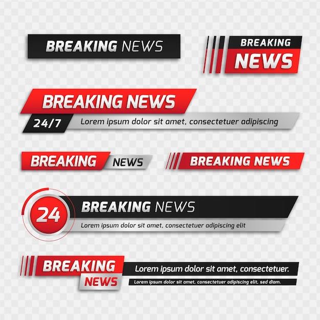 Баннеры последних новостей Бесплатные векторы