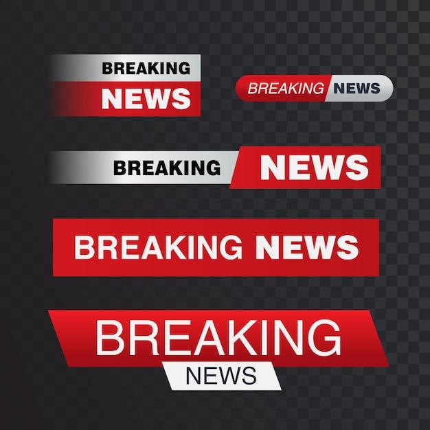 Breaking news bar Premium Vector