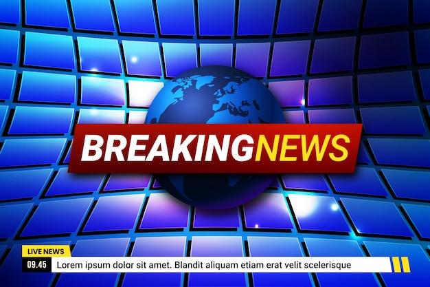 速報ニュースのコンセプト Premiumベクター