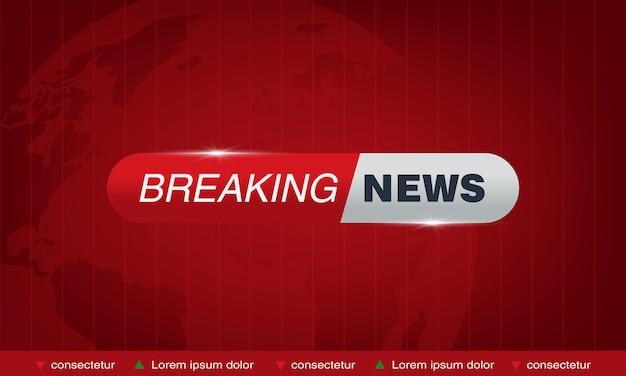 Breaking news tv studio Premium Vector