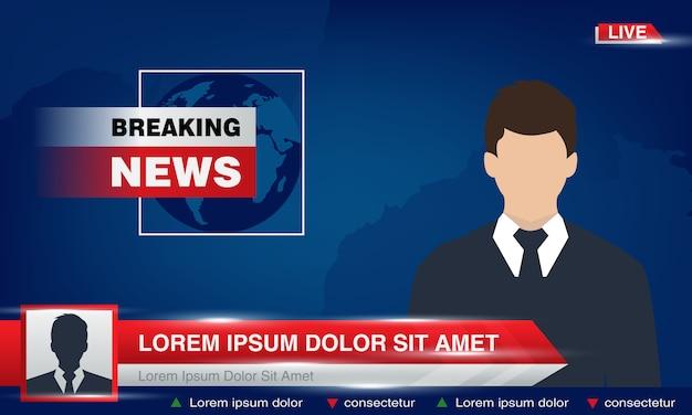 Breaking news Premium Vector