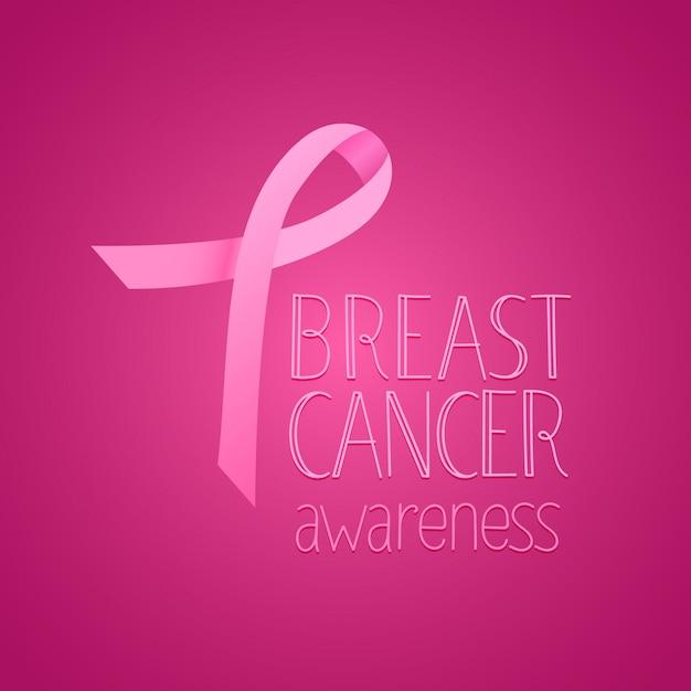 Breast cancer awareness banner Premium Vector