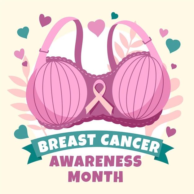 乳がん啓発コンセプト 無料ベクター