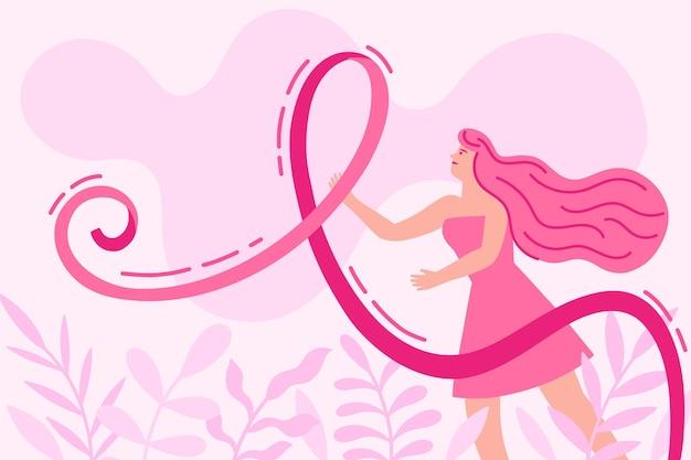 Breast cancer awareness concept Premium Vector
