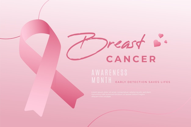 Breast cancer awareness event Premium Vector