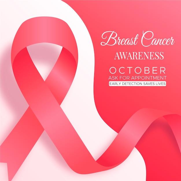 Месяц осведомленности о раке груди Бесплатные векторы