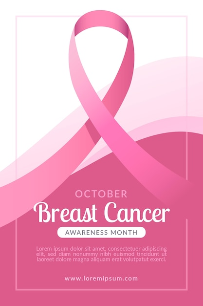Баннер месяц осведомленности о раке груди Premium векторы