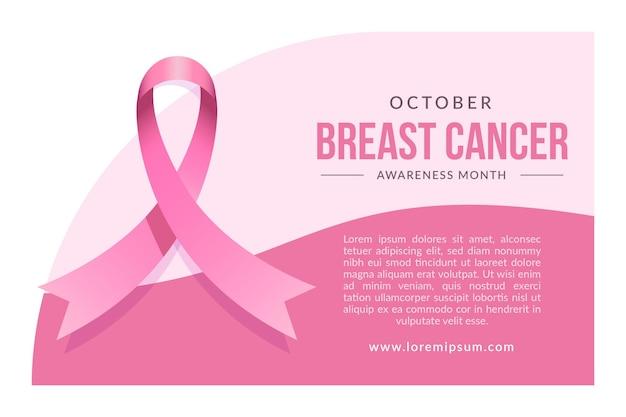 Баннер месяц осведомленности о раке груди Бесплатные векторы