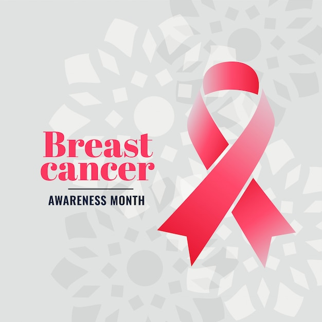 Breast cancer awareness month campaign poster Free Vector