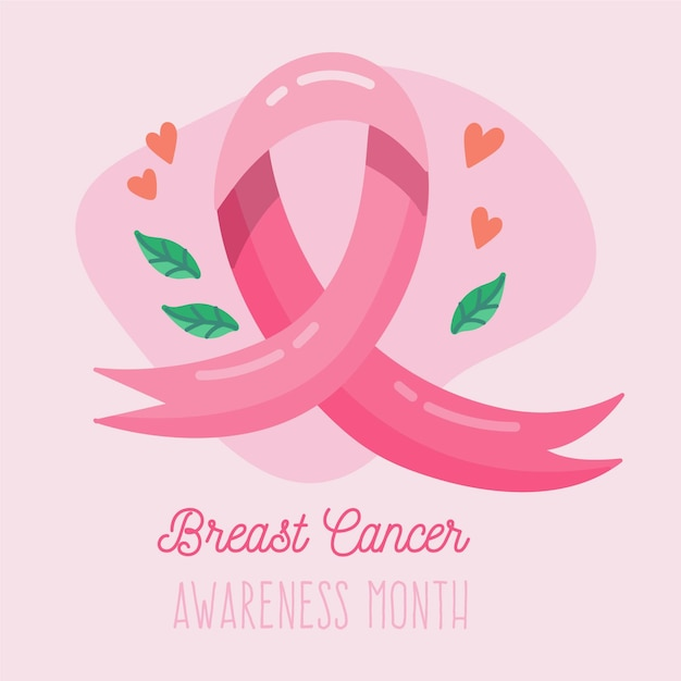 Concetto di mese di consapevolezza del cancro al seno Vettore gratuito