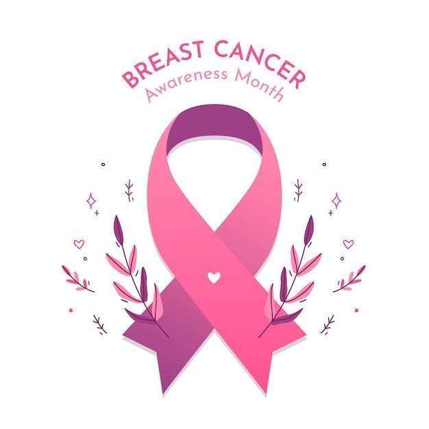 乳がん啓発月間コンセプト 無料ベクター