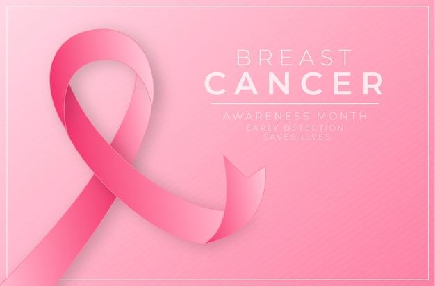Концепция месяца осведомленности рака молочной железы Бесплатные векторы