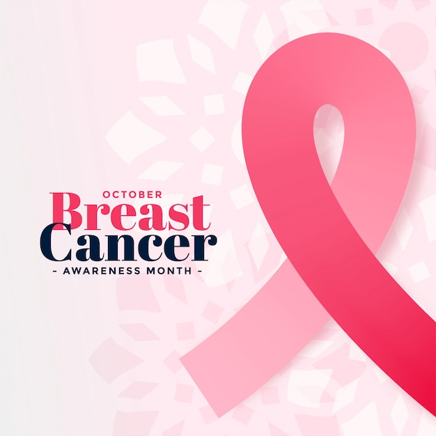 Breast cancer awareness october month poster Free Vector